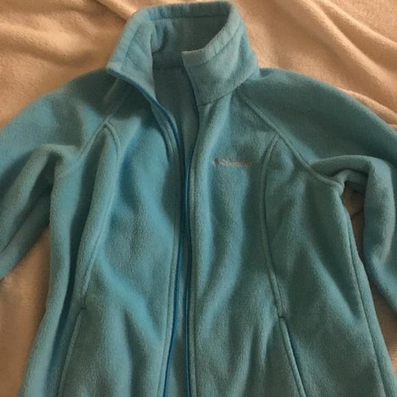 Columbia Jackets & Blazers - Columbia turquoise fleece